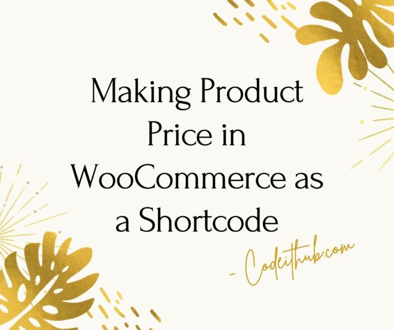 Making Product Price in WooCommerce as a Shortcode