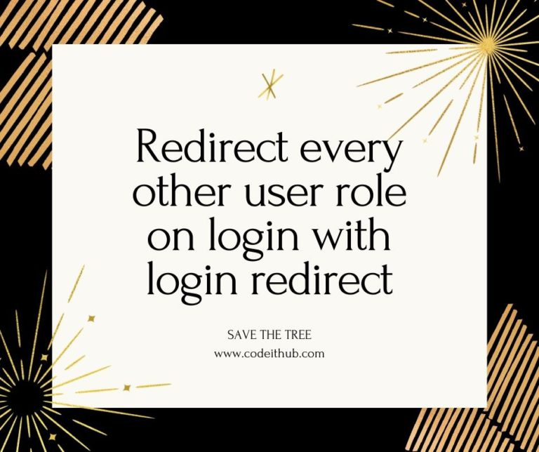 Redirect every other user role on login with login redirect