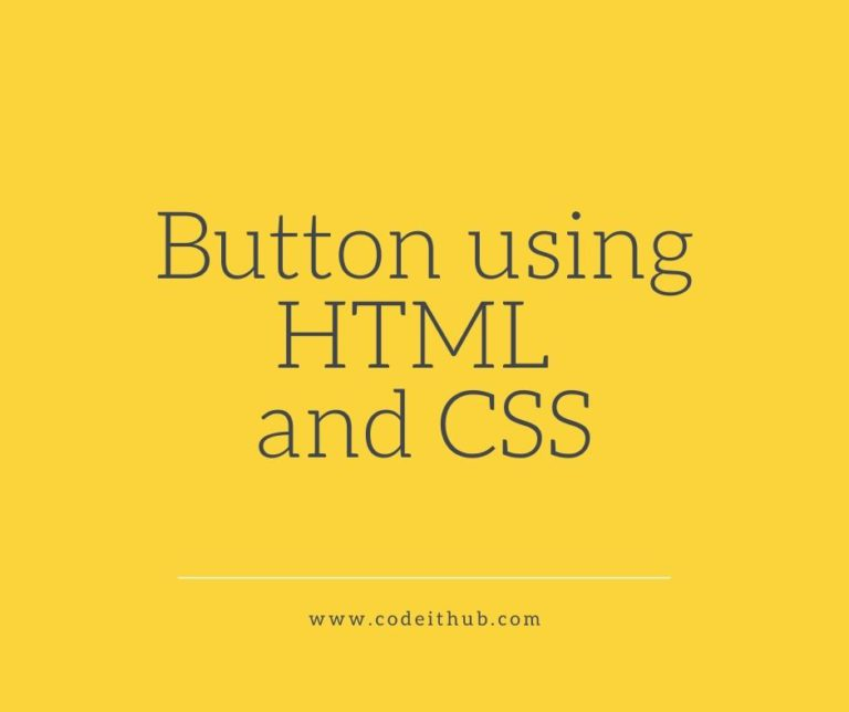 button using HTML and CSS