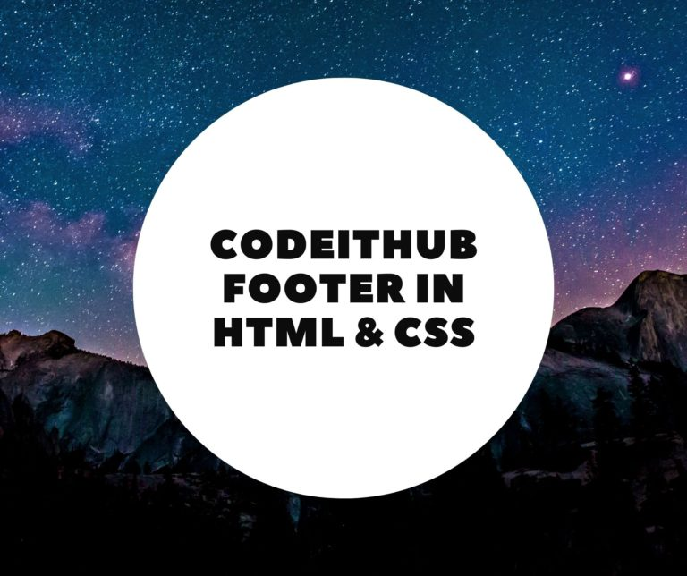 Footer With HTML & CSS
