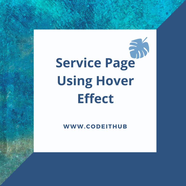 Service Page Using Hover Effect
