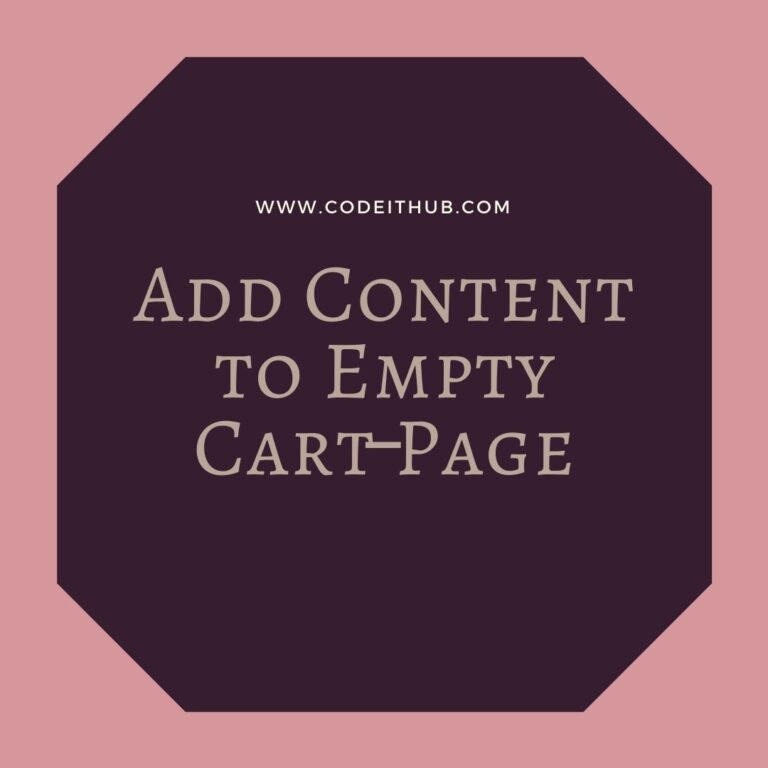Add Content to Empty Cart