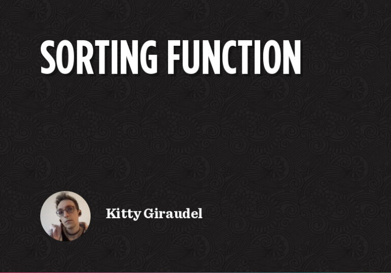 Sorting Functions in CSS