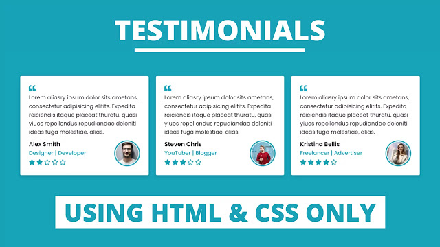 Testimonials using only HTML CSS
